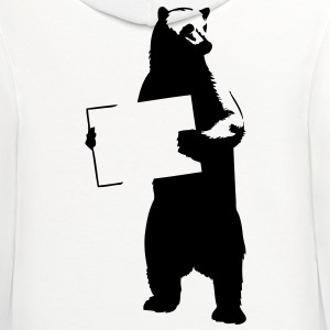 Bear With Sign HD VECTOR T-Shirts - Contrast Hoodie