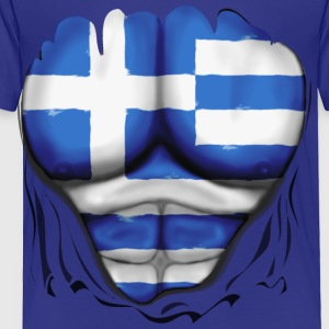 Greece Flag Ripped Muscles, six pack, chest t-shirt - Toddler Premium T-Shirt