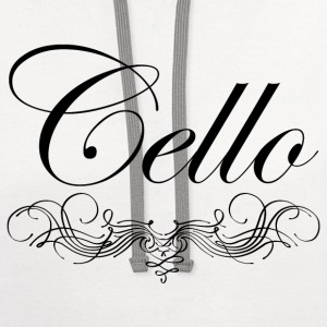 Cello Script T-Shirts - Contrast Hoodie