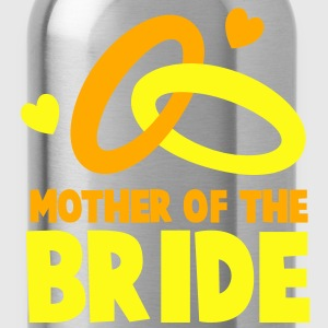 MOTHER OF THE BRIDE with cute love hearts and rings T-Shirts - Water Bottle