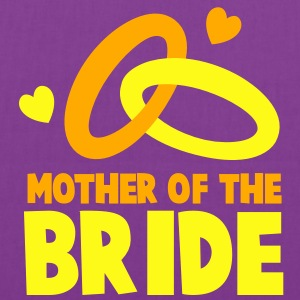 MOTHER OF THE BRIDE with cute love hearts and rings T-Shirts - Tote Bag