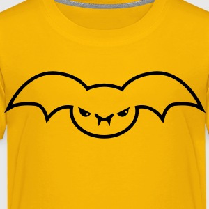 evil batty bat emo creature Kids' Shirts - Toddler Premium T-Shirt