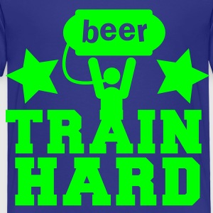 BEER train hard! with lifting man and stars Kids' Shirts - Toddler Premium T-Shirt