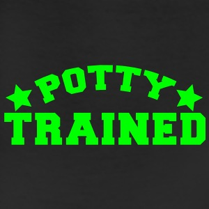 potty trained in funky college font Kids' Shirts - Leggings