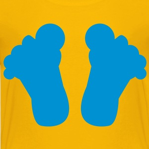 big toes shape of the base of your feet Kids' Shirts - Toddler Premium T-Shirt