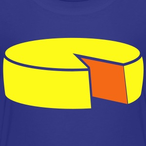 cheese wheel large 2 color Kids' Shirts - Toddler Premium T-Shirt