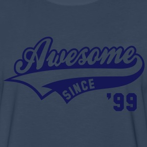 Awesome SINCE 99 Birthday Anniversary T-Shirt WN - Men's Premium Long Sleeve T-Shirt
