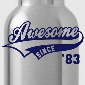 Awesome SINCE 83 Birthday Anniversary T-Shirt WN - Water Bottle