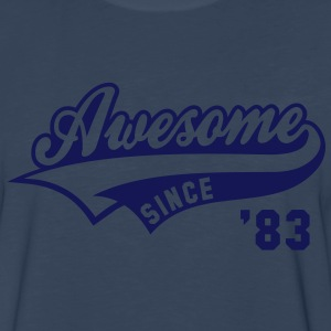 Awesome SINCE 83 Birthday Anniversary T-Shirt WN - Men's Premium Long Sleeve T-Shirt