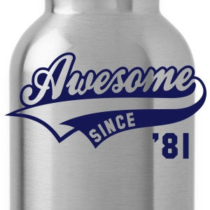 Awesome SINCE 81 Birthday Anniversary T-Shirt WN - Water Bottle