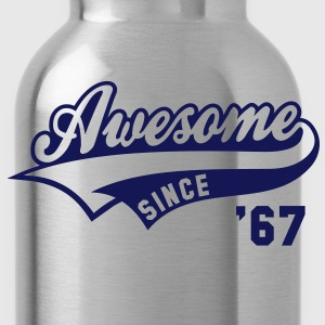 Awesome SINCE 67 Birthday Anniversary T-Shirt NS - Water Bottle