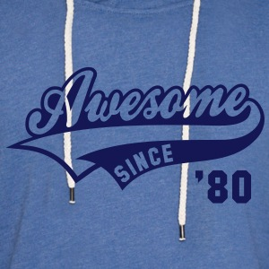 Awesome SINCE 80 Birthday Anniversary T-Shirt NS - Unisex Lightweight Terry Hoodie