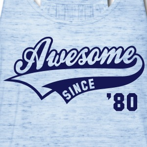 Awesome SINCE 80 Birthday Anniversary T-Shirt NS - Women's Flowy Tank Top by Bella