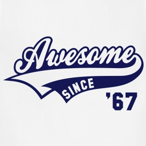 Awesome SINCE 67 Birthday Anniversary T-Shirt GW - Adjustable Apron