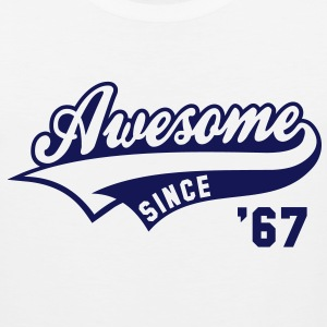 Awesome SINCE 67 Birthday Anniversary T-Shirt GW - Men's Premium Tank