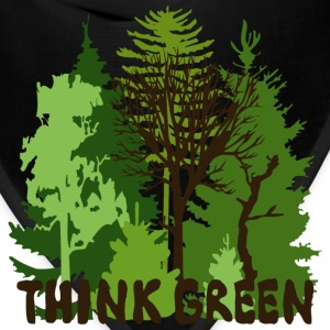 EARTHDAYCONTEST Earth Day Think Green forest trees wilderness mother nature T-Shirts - Bandana