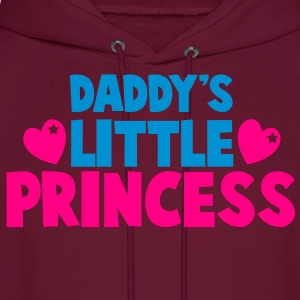daddy's little princess with love hearts Kids' Shirts - Men's Hoodie