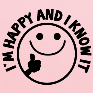 I'm HAPPY and I know it with thumbs up smiley Kids' Shirts - Kids' Hoodie