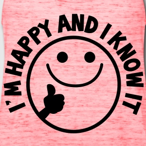 I'm HAPPY and I know it with thumbs up smiley Kids' Shirts - Women's Flowy Tank Top by Bella