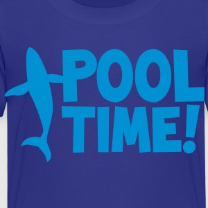 pool time! with a whale Kids' Shirts - Toddler Premium T-Shirt