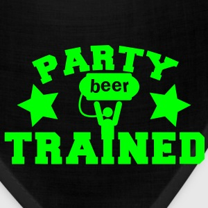 PARTY TRAINED with man and a beer keg  Kids' Shirts - Bandana