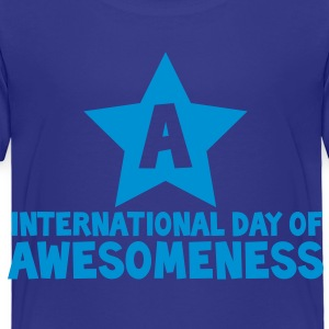 international day of awesomeness AWESOME! Kids' Shirts - Toddler Premium T-Shirt