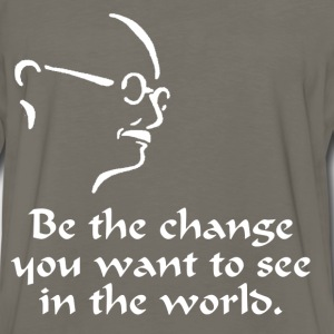 Gandhi – Change - Men's Premium Long Sleeve T-Shirt