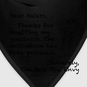 Letters to Life - Haters T-Shirts - Bandana