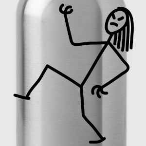 air_guitar_stick_figure_1c T-Shirts - Water Bottle