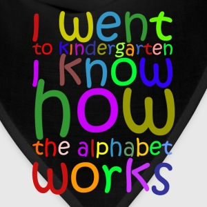 I Went to Kindergarten T-Shirt - Bandana