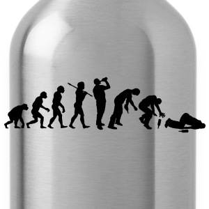 The Evolution Of Drunk Man - Water Bottle
