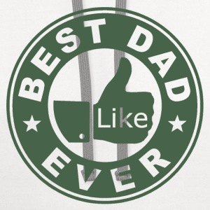 Best Dad Ever Thumbs Up - Contrast Hoodie