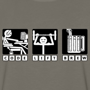 Code - Lift - Brew - Men's Premium Long Sleeve T-Shirt