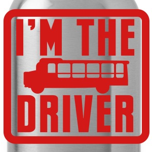 I'm the school bus driver in a rounded square T-Shirts - Water Bottle