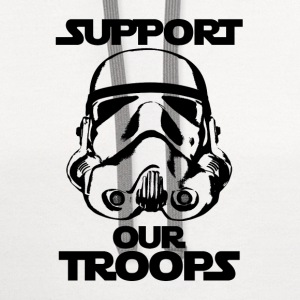 stormtrooper support our troops tshirt - Contrast Hoodie
