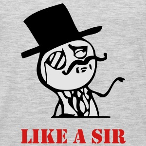 Like a sir - internet meme - Men's Premium Long Sleeve T-Shirt