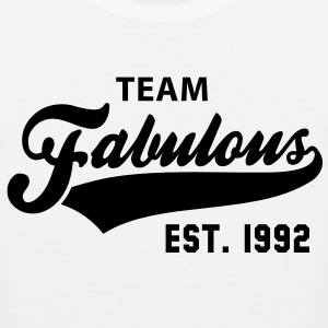 TEAM Fabulous Est. 1992 Birthday Shirt BW - Men's Premium Tank