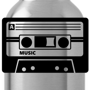 Cassette Audio Tape T-Shirts - Water Bottle