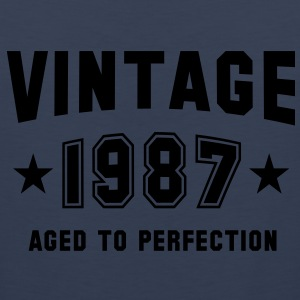 VINTAGE 1987 - Birthday T-Shirt WN - Men's Premium Tank
