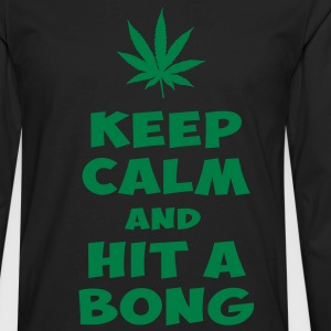 keep calm and hit a bong T-Shirts - Men's Premium Long Sleeve T-Shirt