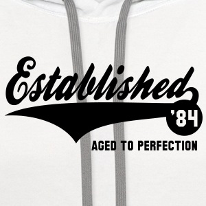 Established 1984 Birthday Anniversaire T-Shirt NW - Contrast Hoodie