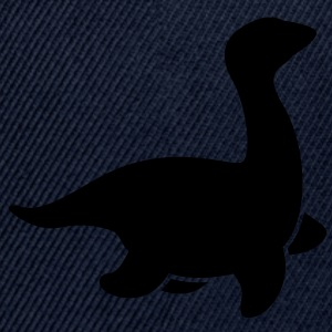 loch ness dinosaur creature monster simple T-Shirts - Snap-back Baseball Cap
