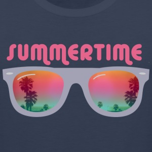 summertime sunglasses palms and beach T-Shirts - Men's Premium Tank