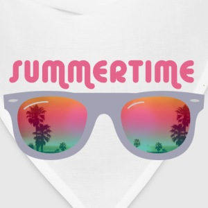 summertime sunglasses palms and beach T-Shirts - Bandana