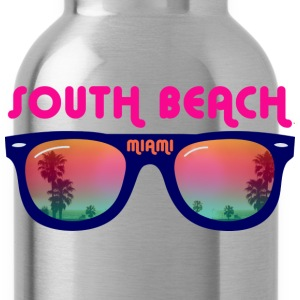 South Beach Miami sunglasses T-Shirts - Water Bottle