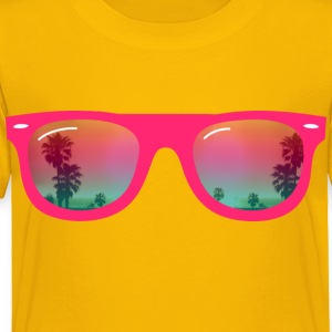 sunglasses palms and beach Kids' Shirts - Toddler Premium T-Shirt