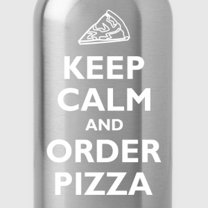 Keep Calm and Order Pizza T-Shirts - Water Bottle