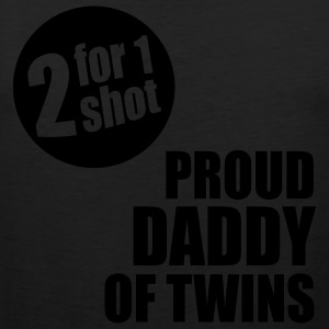 2for1 proud daddy of twins Shirt WB - Men's Premium Tank
