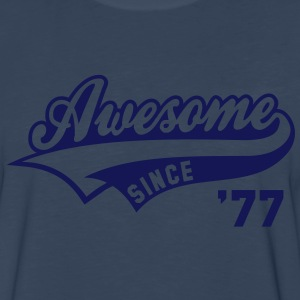 Awesome SINCE 77 Birthday Anniversary T-Shirt WN - Men's Premium Long Sleeve T-Shirt