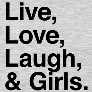 Live , love , laugh and girls T-Shirts - Men's Premium Long Sleeve T-Shirt